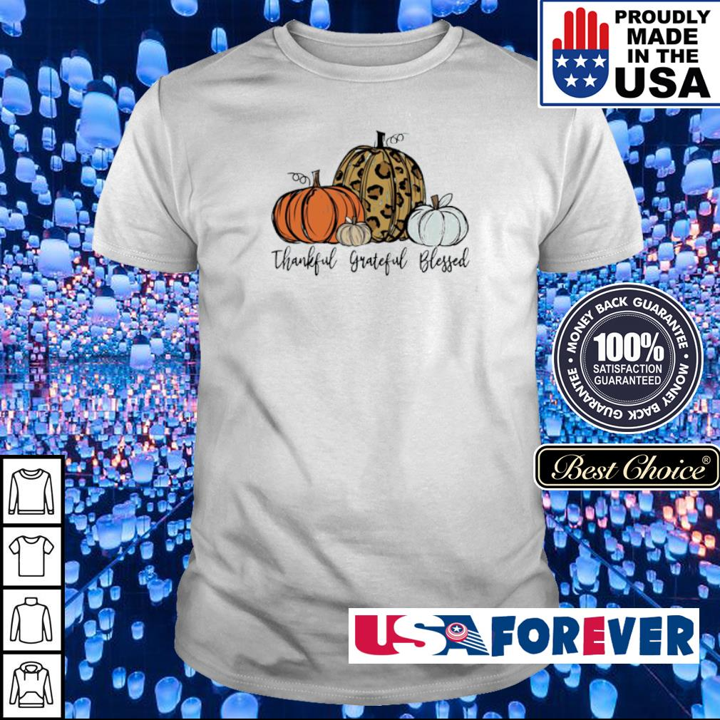 Pumpkin thankful grateful blessed happy Halloween shirt