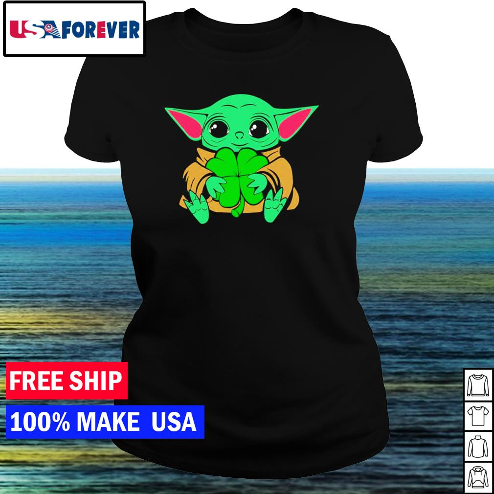 Baby Yoda happy St Patrick's Day s ladies tee