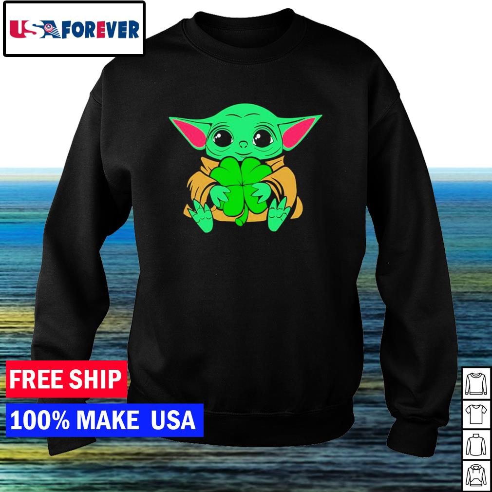 Baby Yoda happy St Patrick's Day s sweater