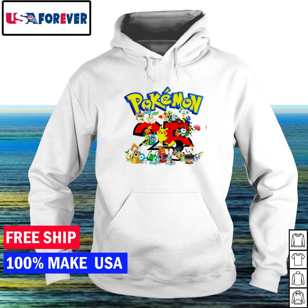 Happy 25th anniversary of Pokemon s hoodie