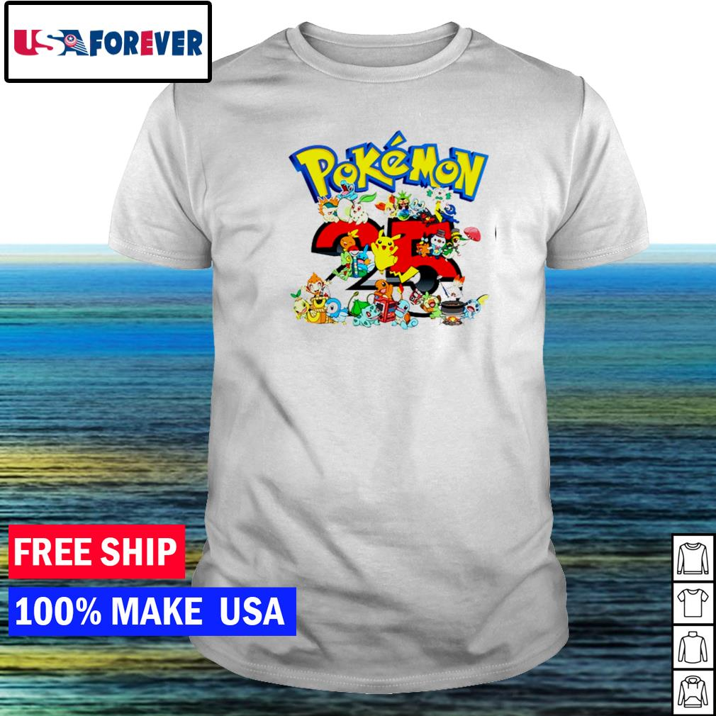 Happy 25th anniversary of Pokemon shirt