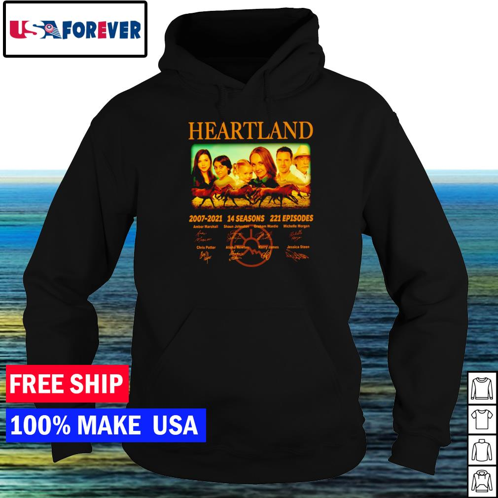 Heartland 2007-2021 14 seasons 221 episodes signature s hoodie