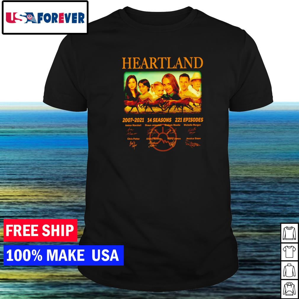Heartland 2007-2021 14 seasons 221 episodes signature shirt