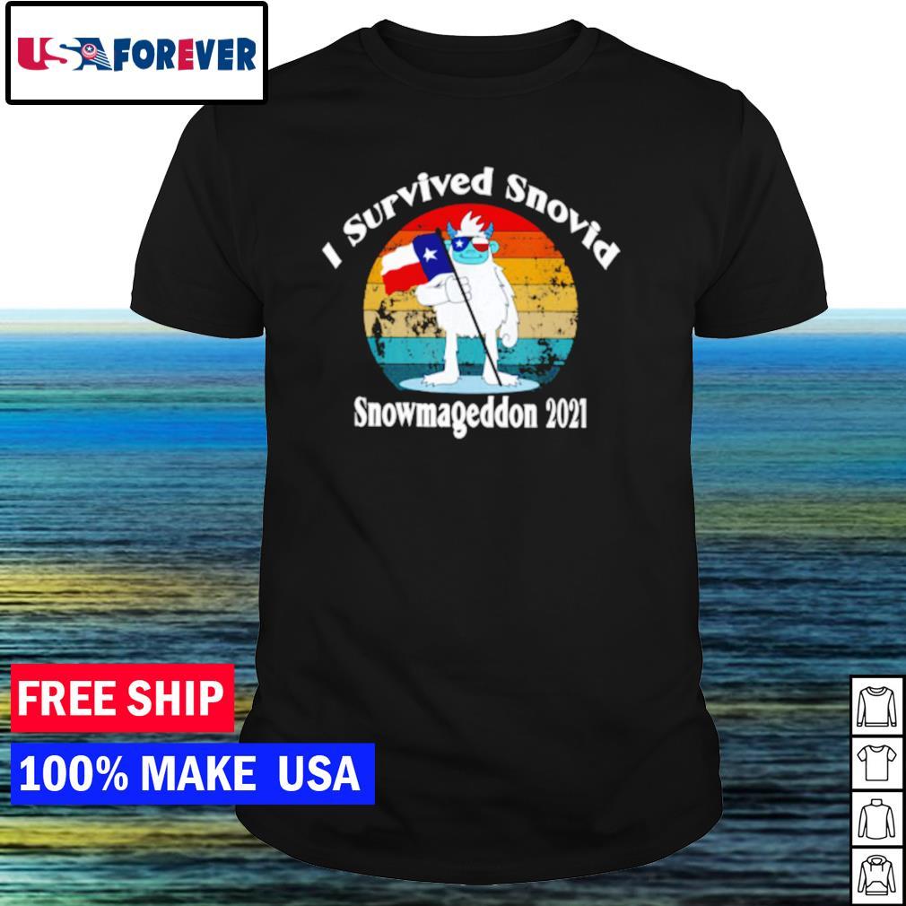 I survived Snovid snowmageddon 2021 vintage covid shirt