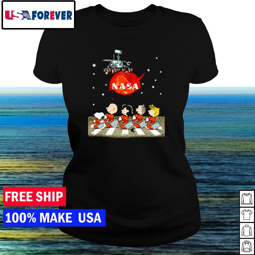Nasa Mars perseverance Snoopy Abbey Road s ladies tee