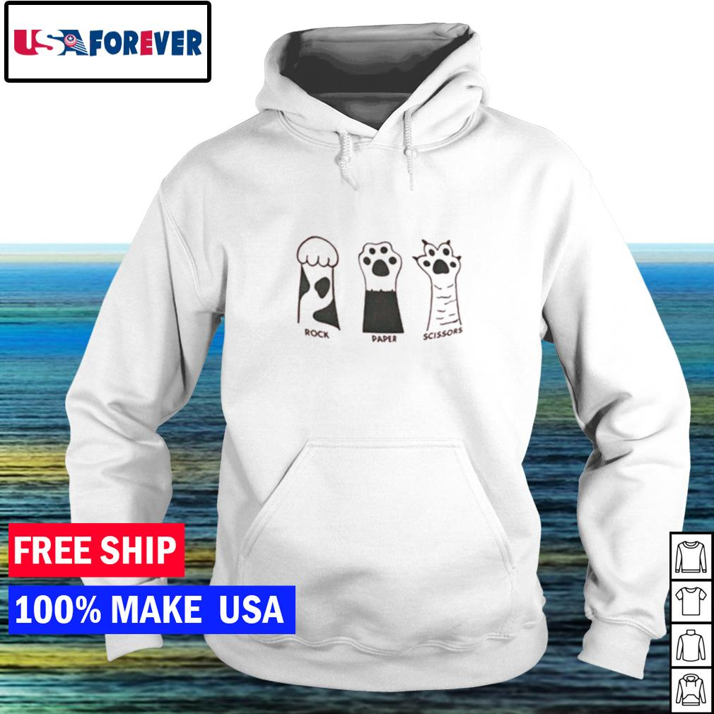 Rock paper scissors cute cat s hoodie