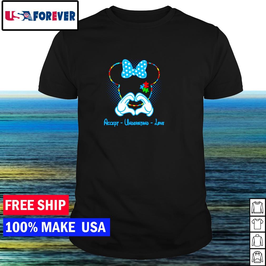 Disney Minnie Mouse accept understand love autism awareness shirt