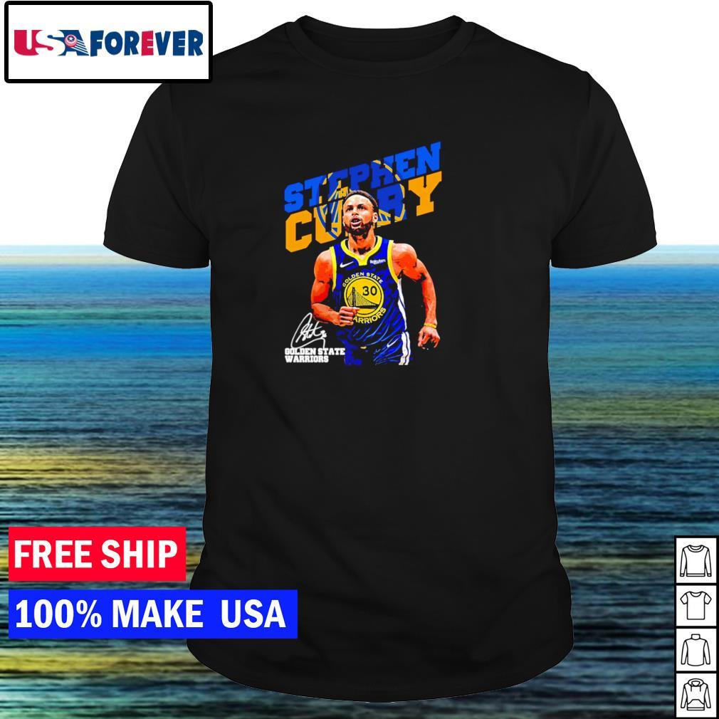 Golden State Warriors Stephen Curry signature NBA shirt