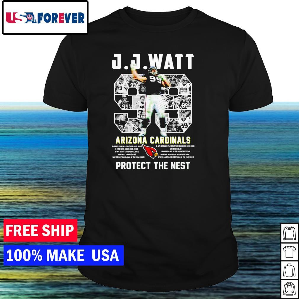 J J Watt Arizona Cardinals number 99 protect the nest signature NFL shirt