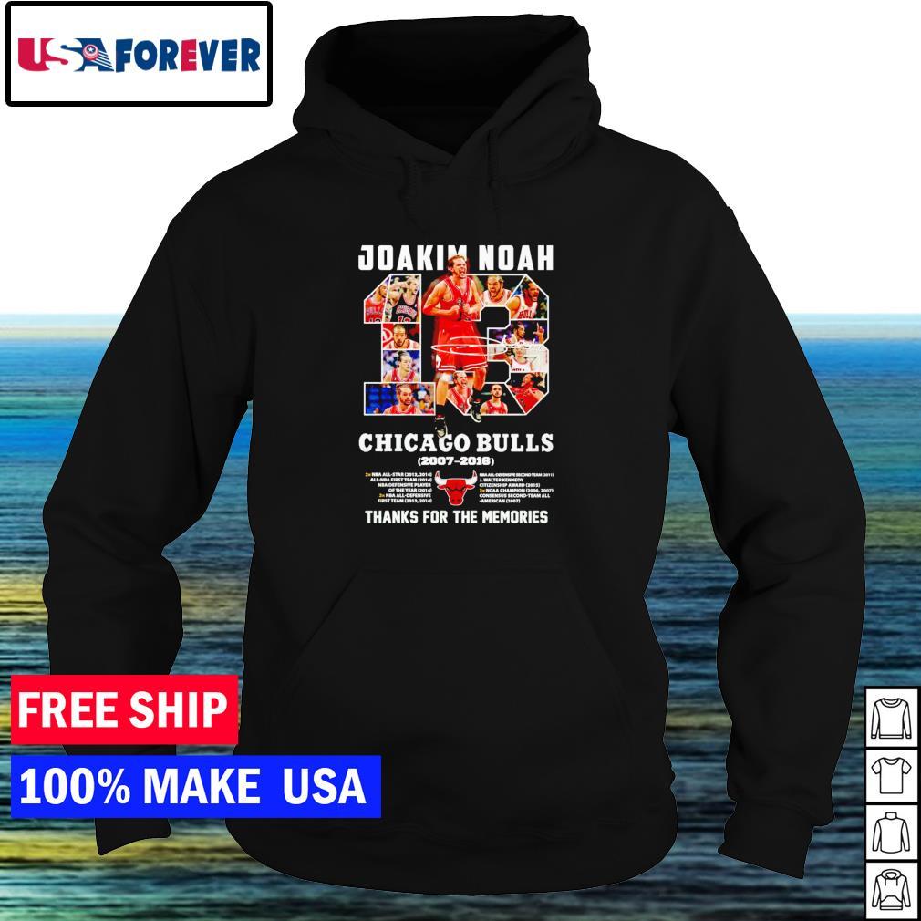 Joakim Noah Chicago Bulls 2007-2016 thank you for the memories signature s hoodie