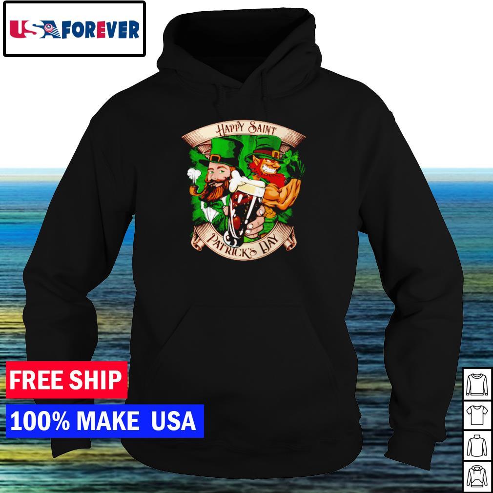 Leprechaun and dark beer happy Saint Patrick's Day s hoodie