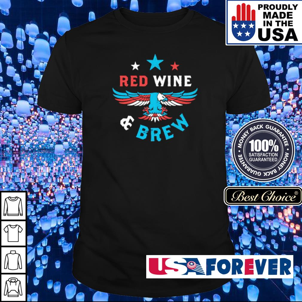 American Eagle red wine and brew shirt