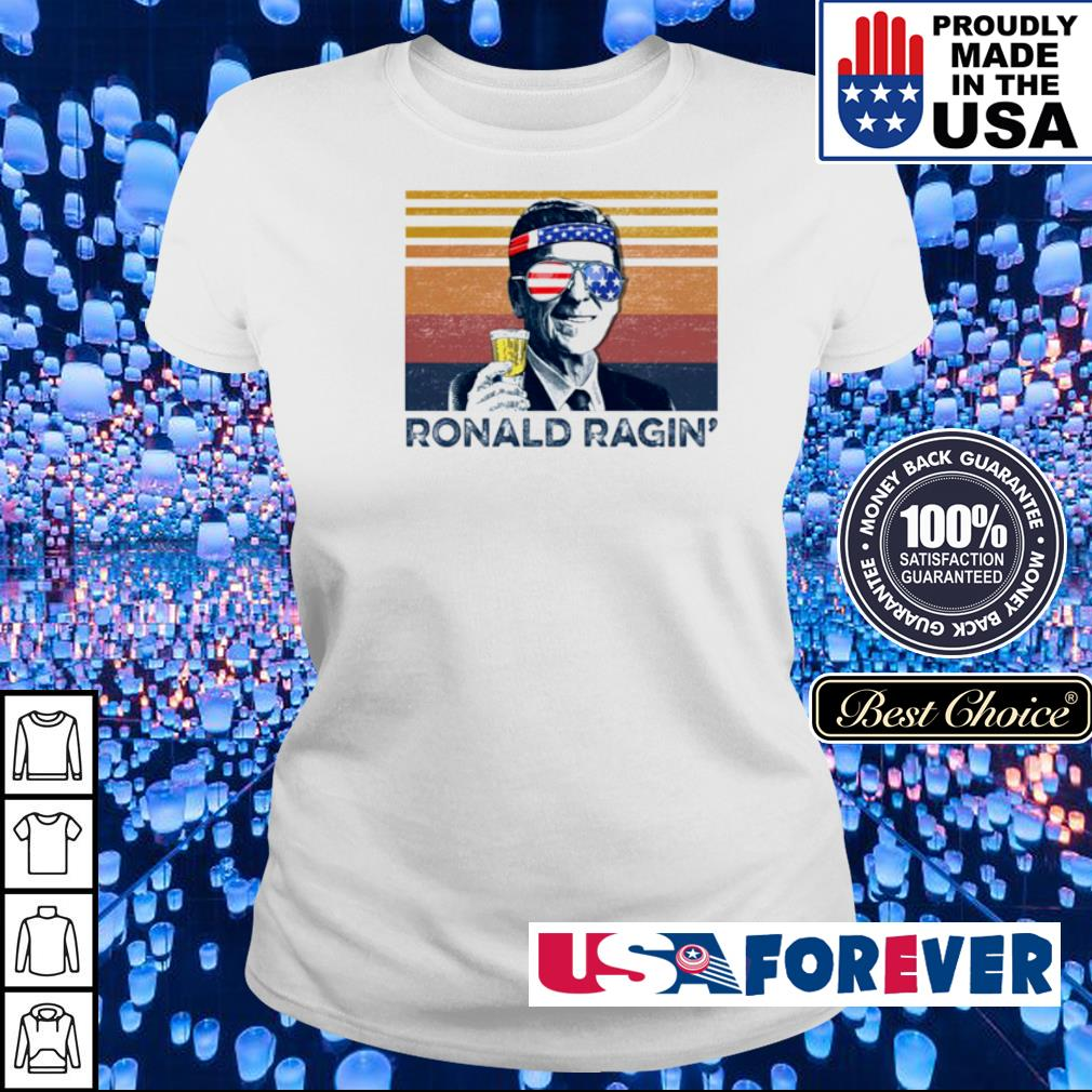 American Flag Ronald Ragin' vintage s ladies
