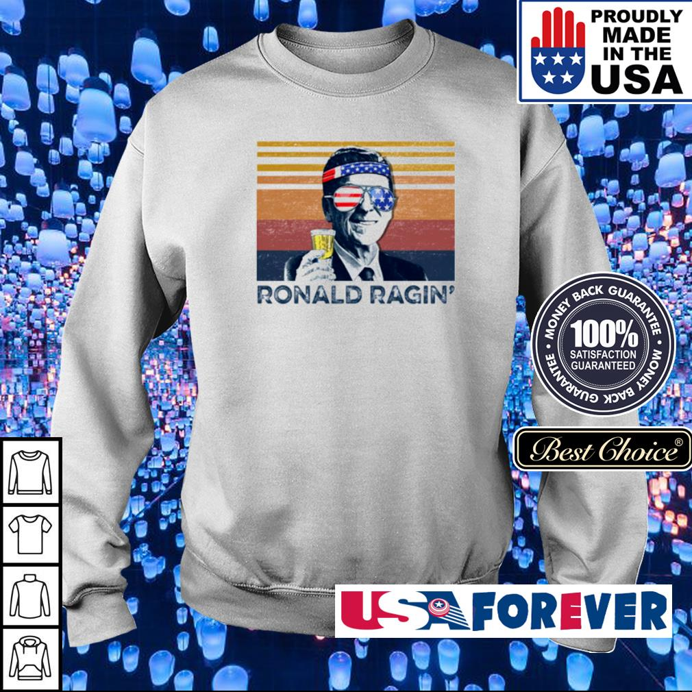 American Flag Ronald Ragin' vintage s sweater