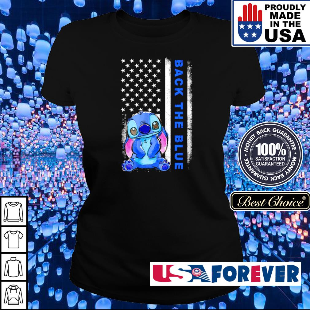 American Flag Stitch Back the blue s ladies