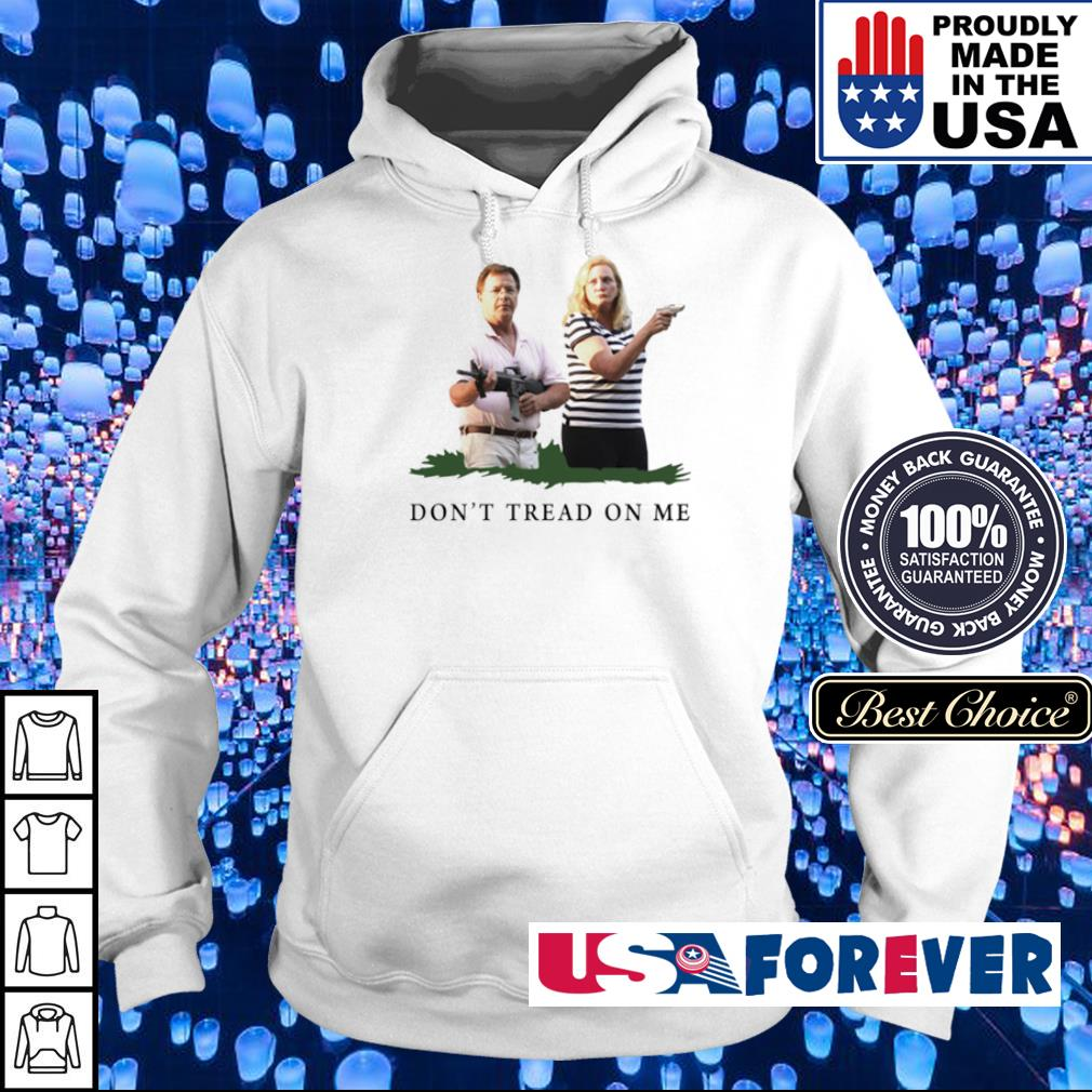 Couple hoding gun don't tread on me shỉt hoodie