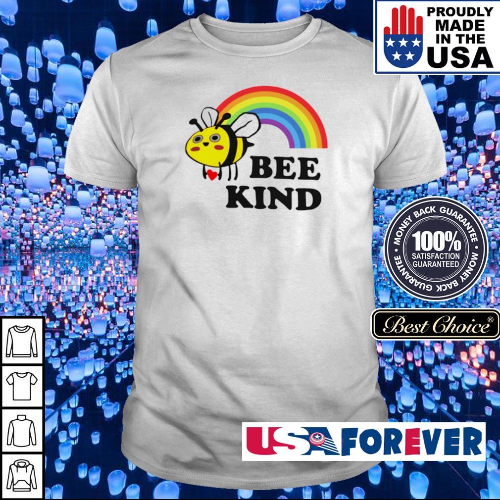 LGBT rainbow bee kind shirt
