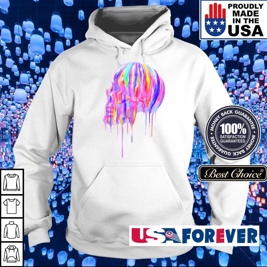 Official rainbow skull s hoodie
