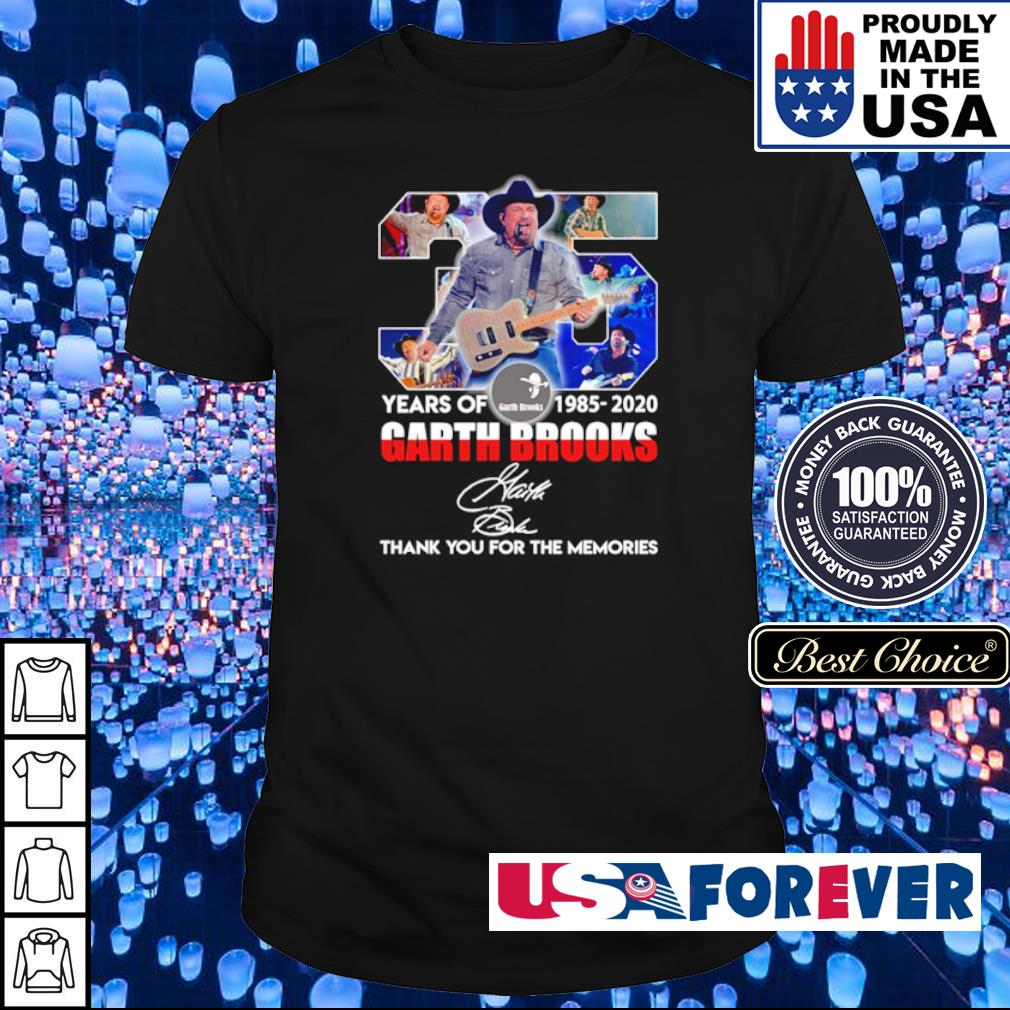 35 years of Garth Brooks thank you for the memories signature shirt