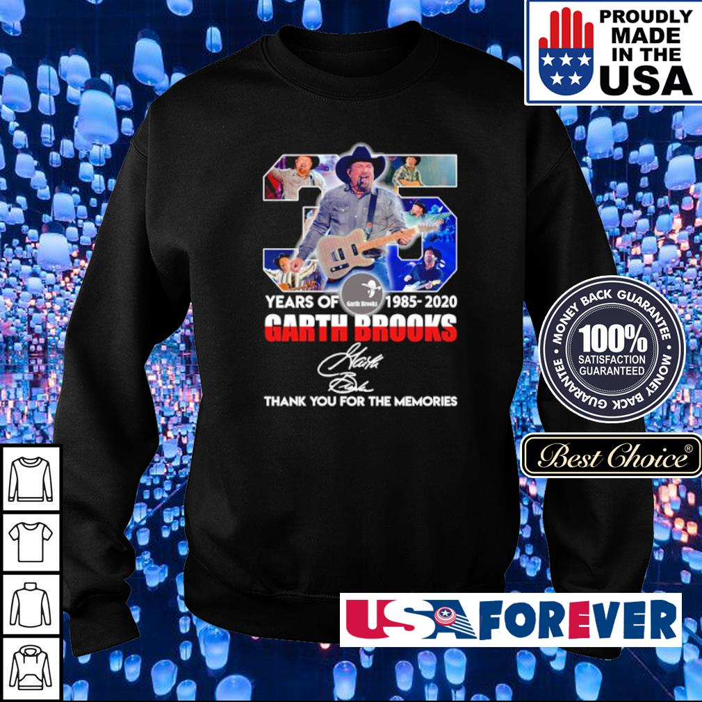 35 years of Garth Brooks thank you for the memories signature s sweater