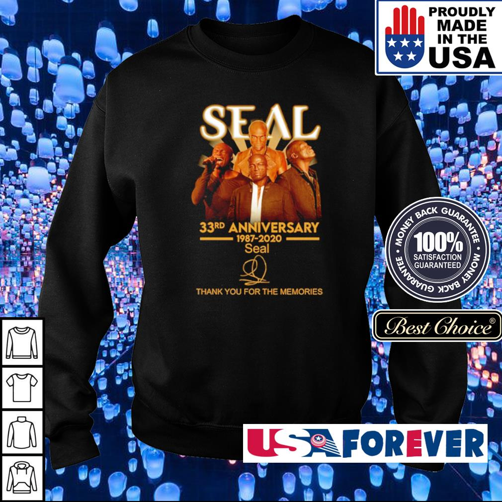 35 years of Seal thank you for the memories signature s sweater