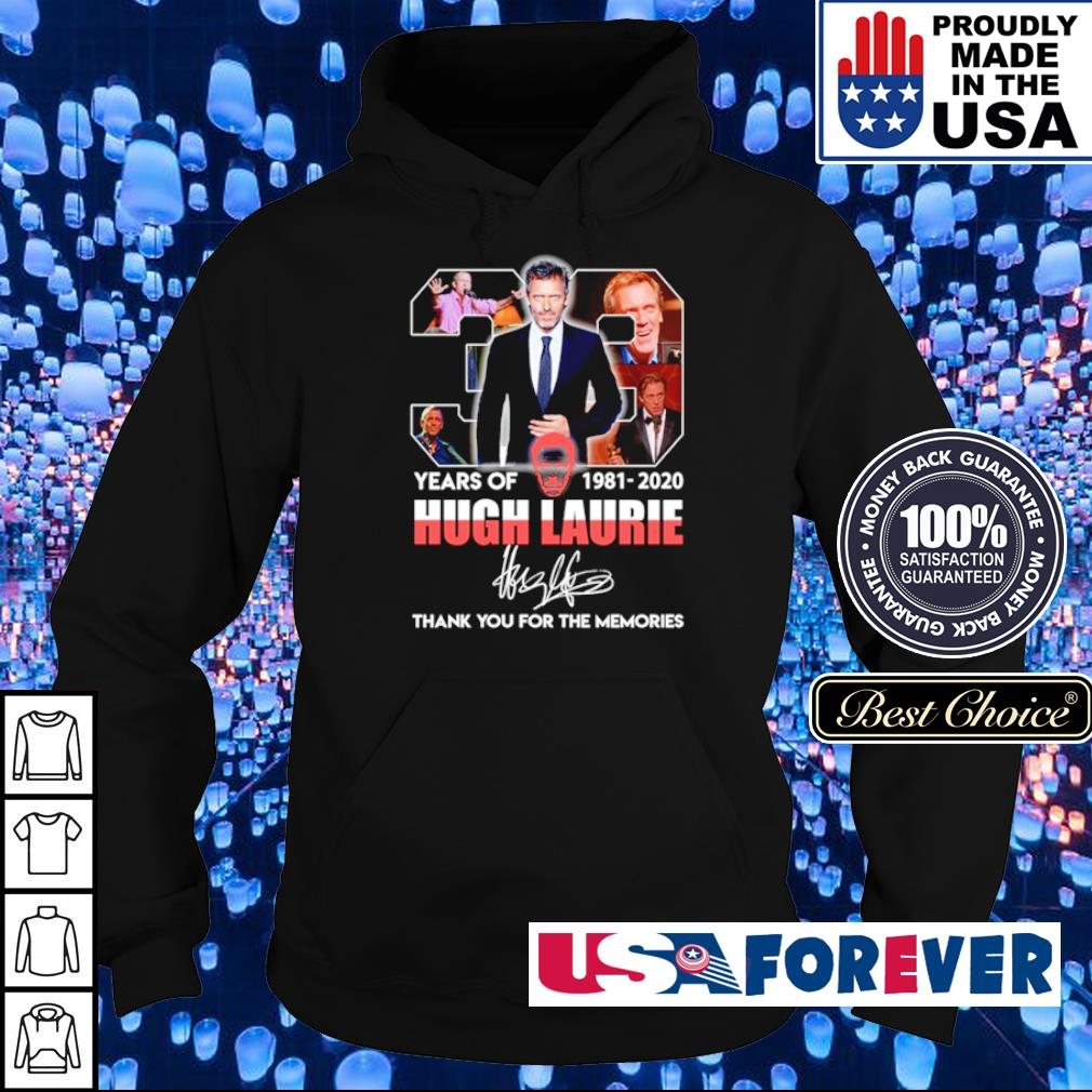 38 years of Hugh Laurie thank you for the memories signature s hoodie