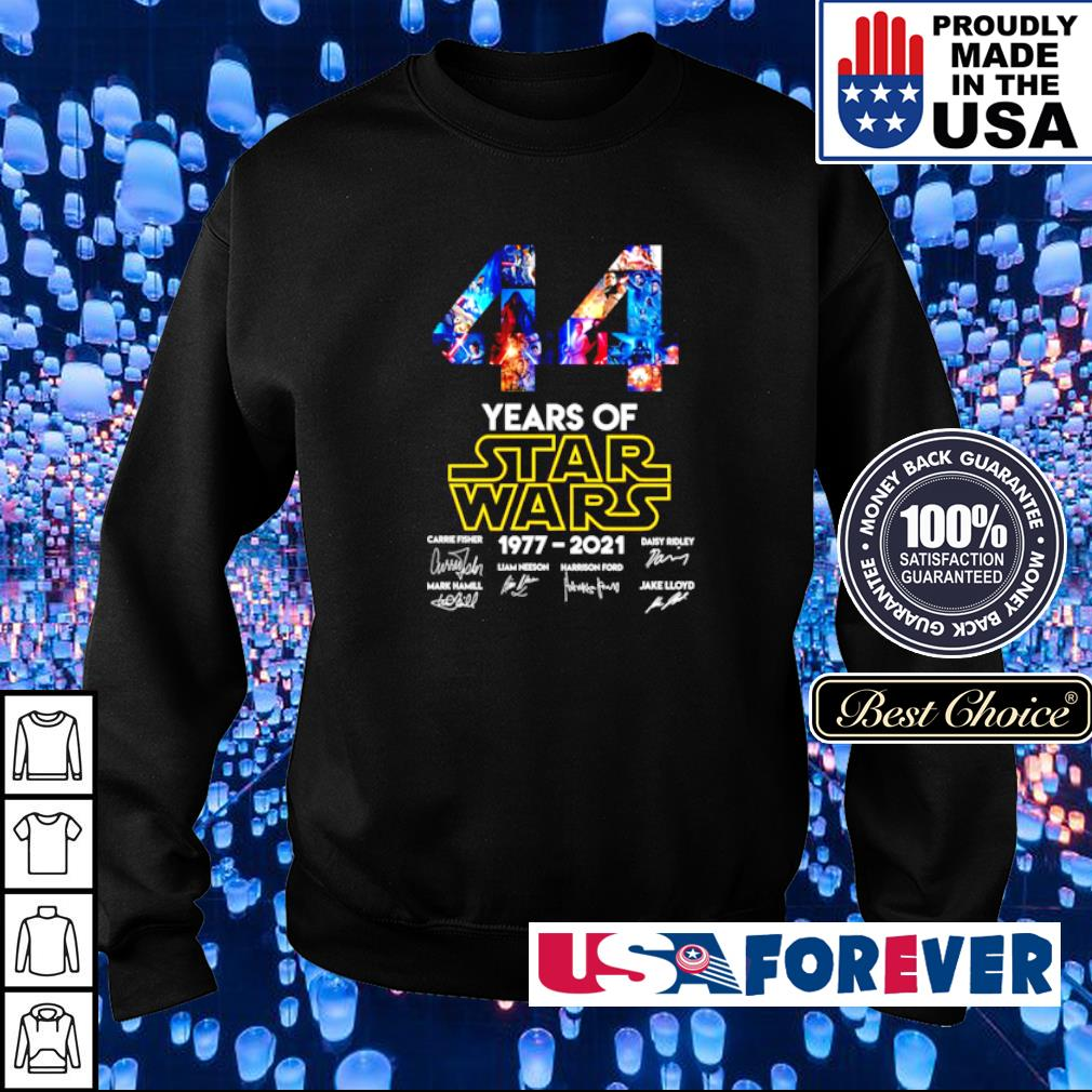 44 years of Star Wars 1977 2021 characters signatures s sweater