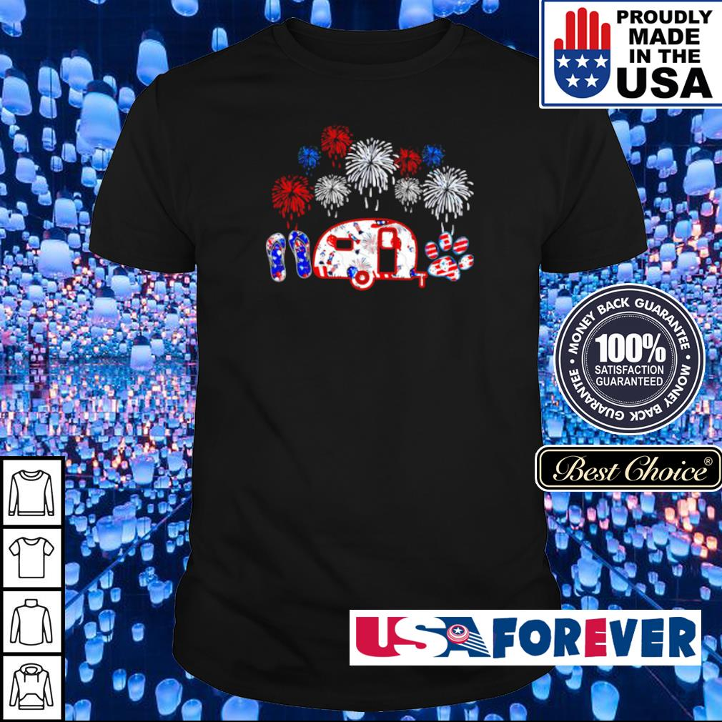 4th of july Independence day crocs jeep dogs shirt