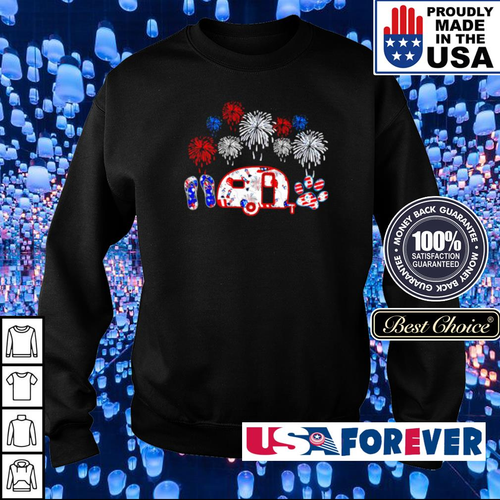 4th of july Independence day crocs jeep dogs s sweater