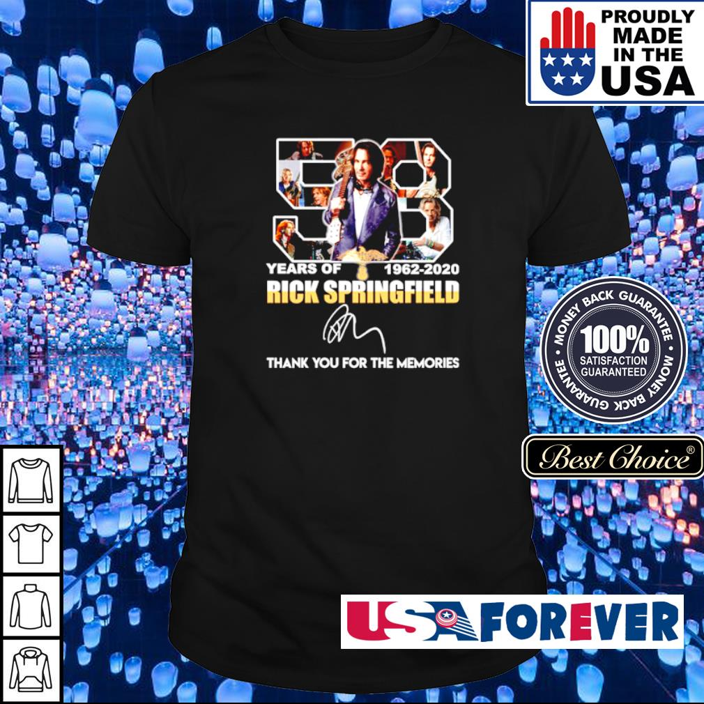 57 years of Rick Springfield thank you for the memories signature shirt