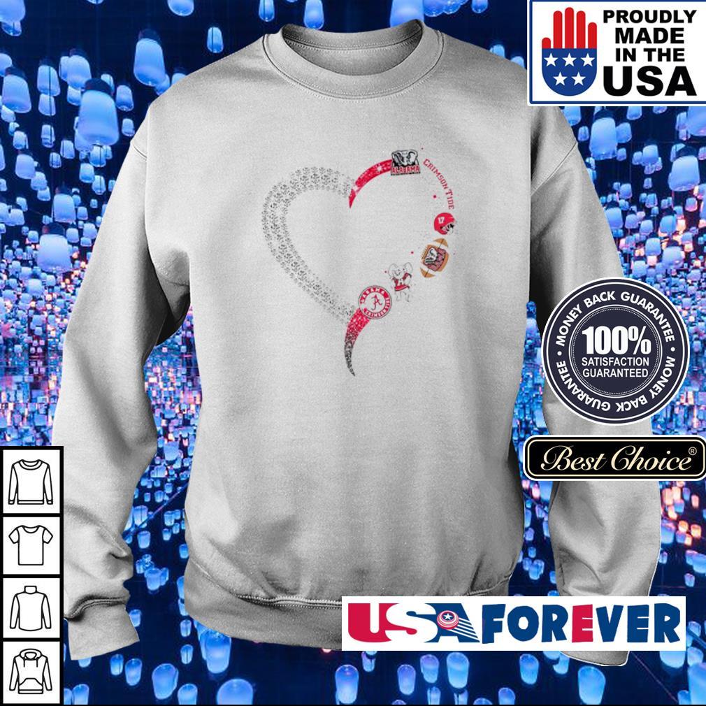 Alabama Crimson Tide diamonds heart s sweater