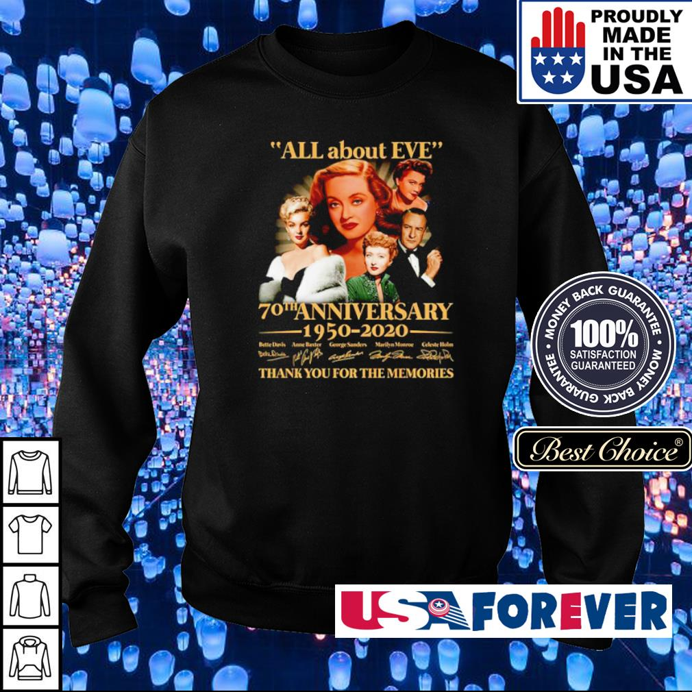 All about Eve 70th anniversary 1950 2020 thank you for the memories s sweater