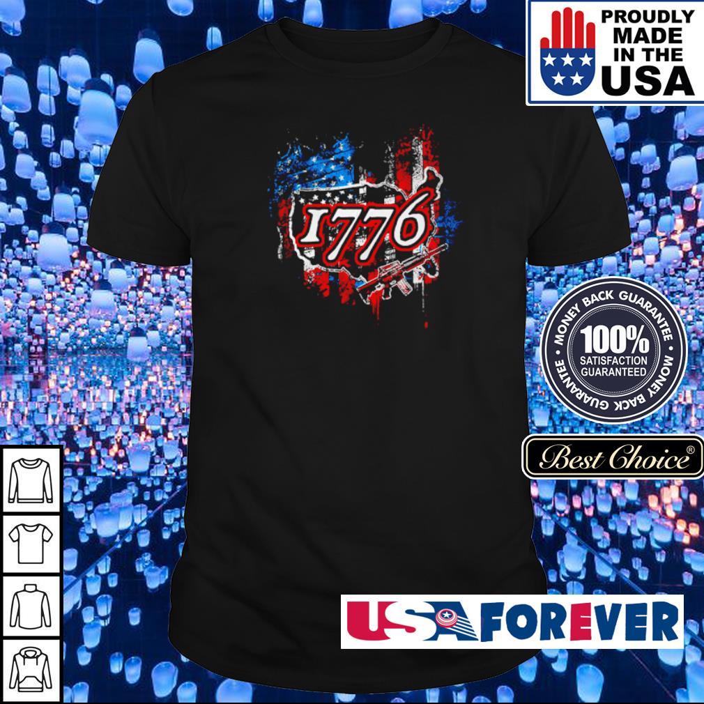 American Flag 1776 M4A1 guns shirt