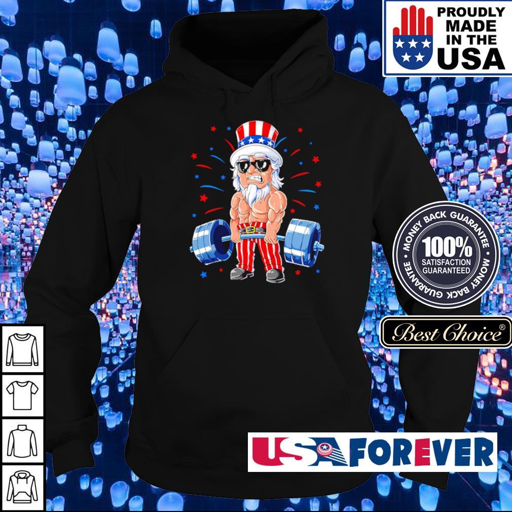 American Flag doing deadlift s hoodie