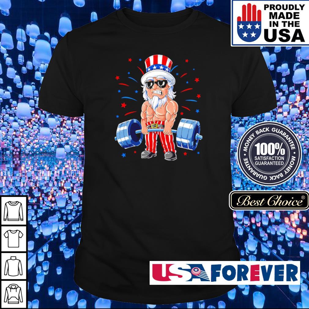American Flag doing deadlift shirt
