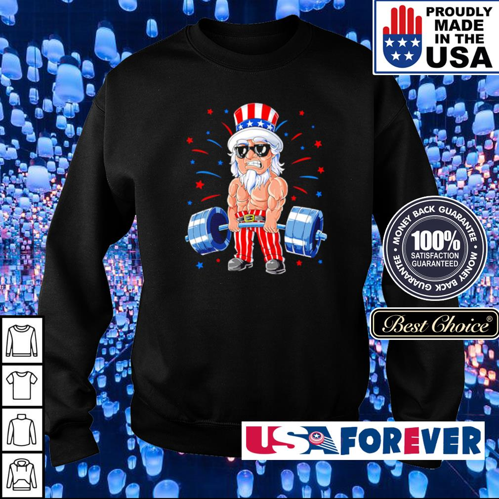 American Flag doing deadlift s sweater