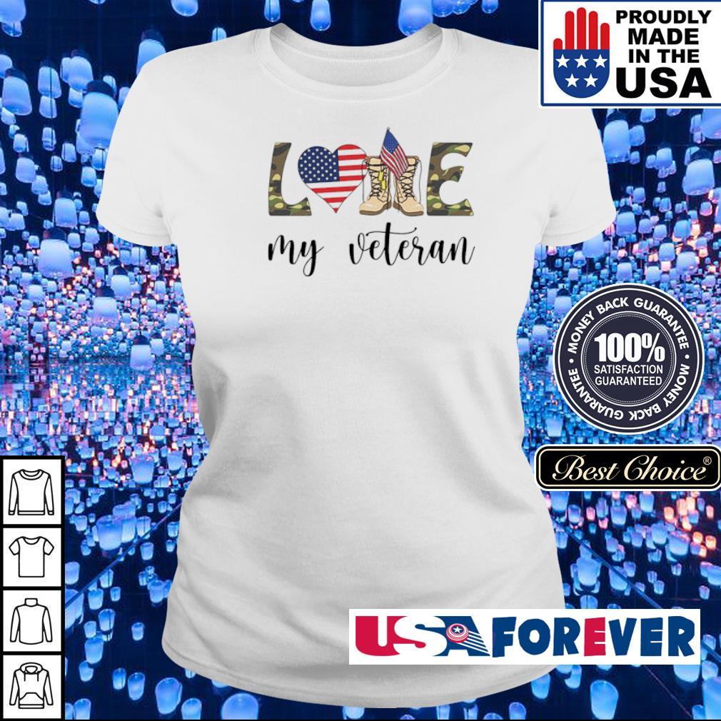American Flag love my veteran s ladies