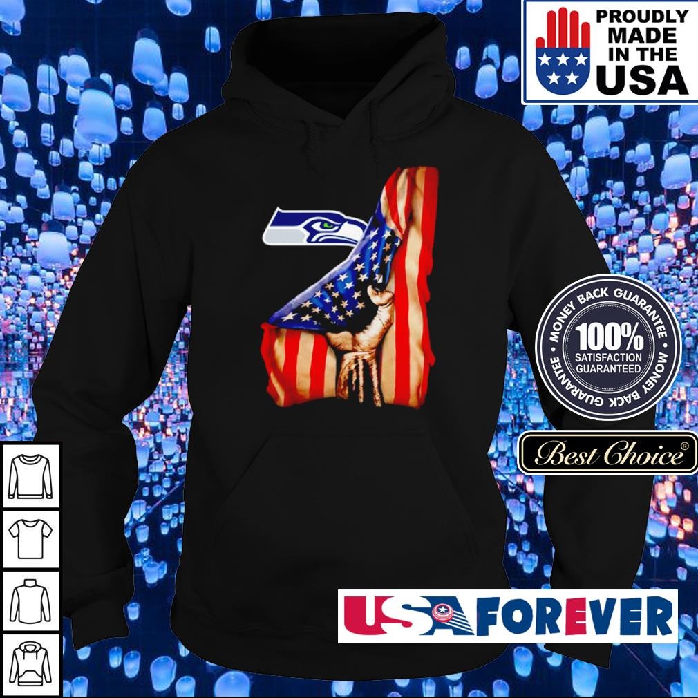 American Flag Seattle Seahawks s hoodie