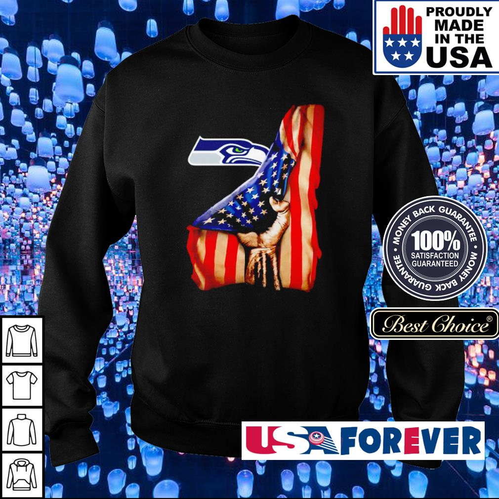 American Flag Seattle Seahawks s sweater