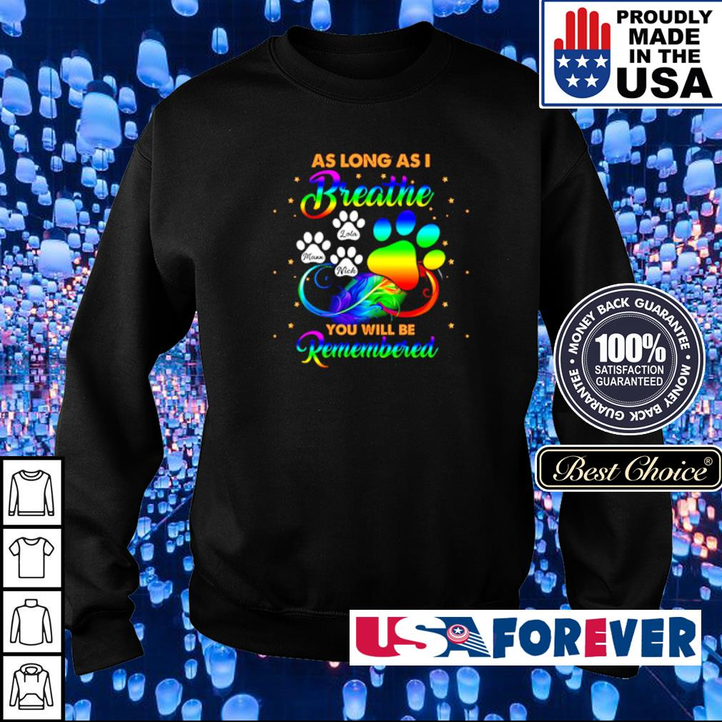 As long as I breathe you will be remembered s sweater