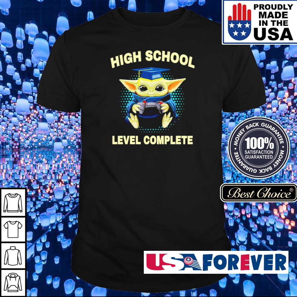 Baby Yoda high school level complete shirt
