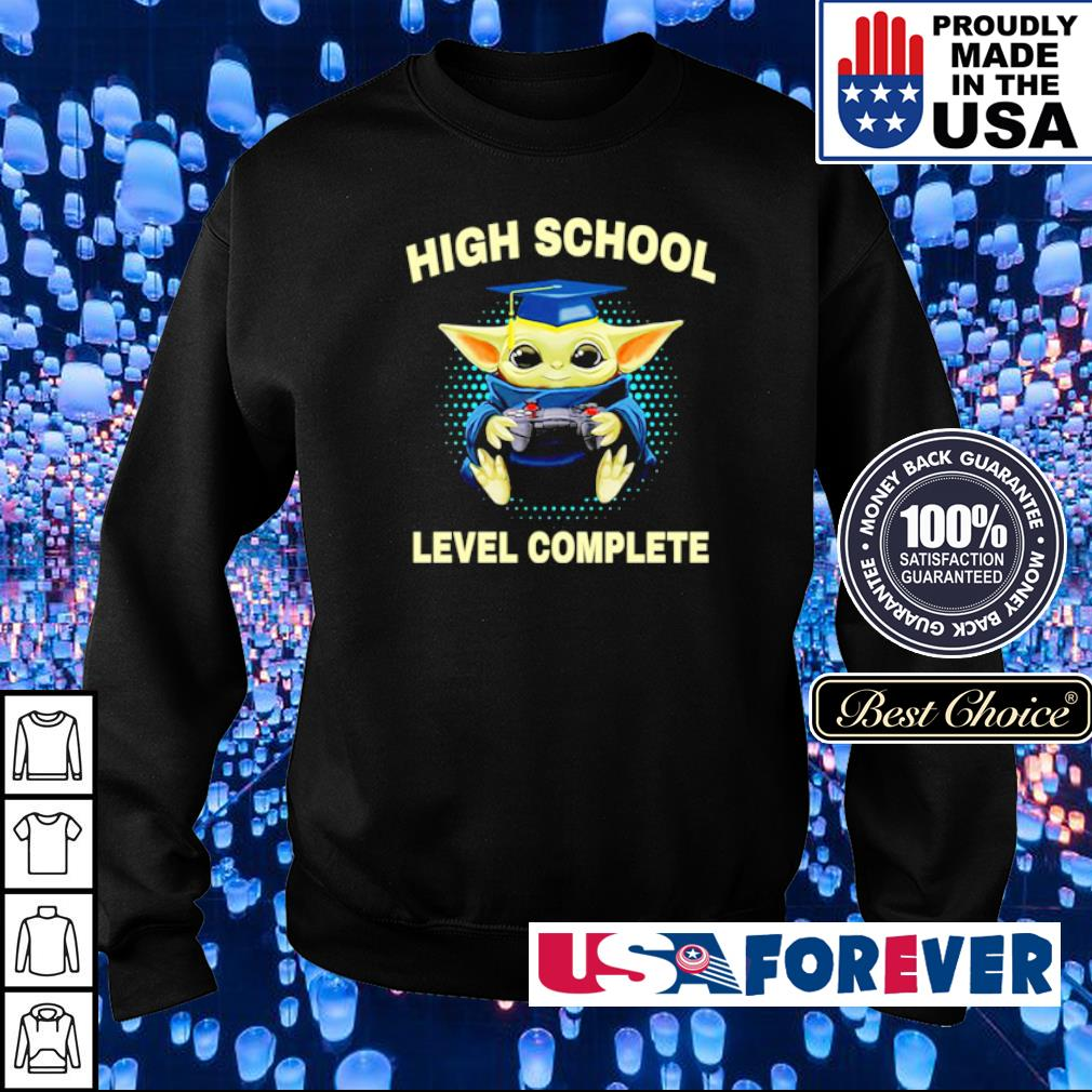 Baby Yoda high school level complete s sweater