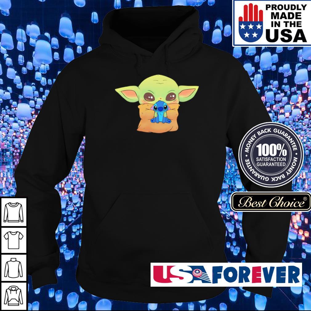 Baby Yoda hug Baby Stitch s hoodie