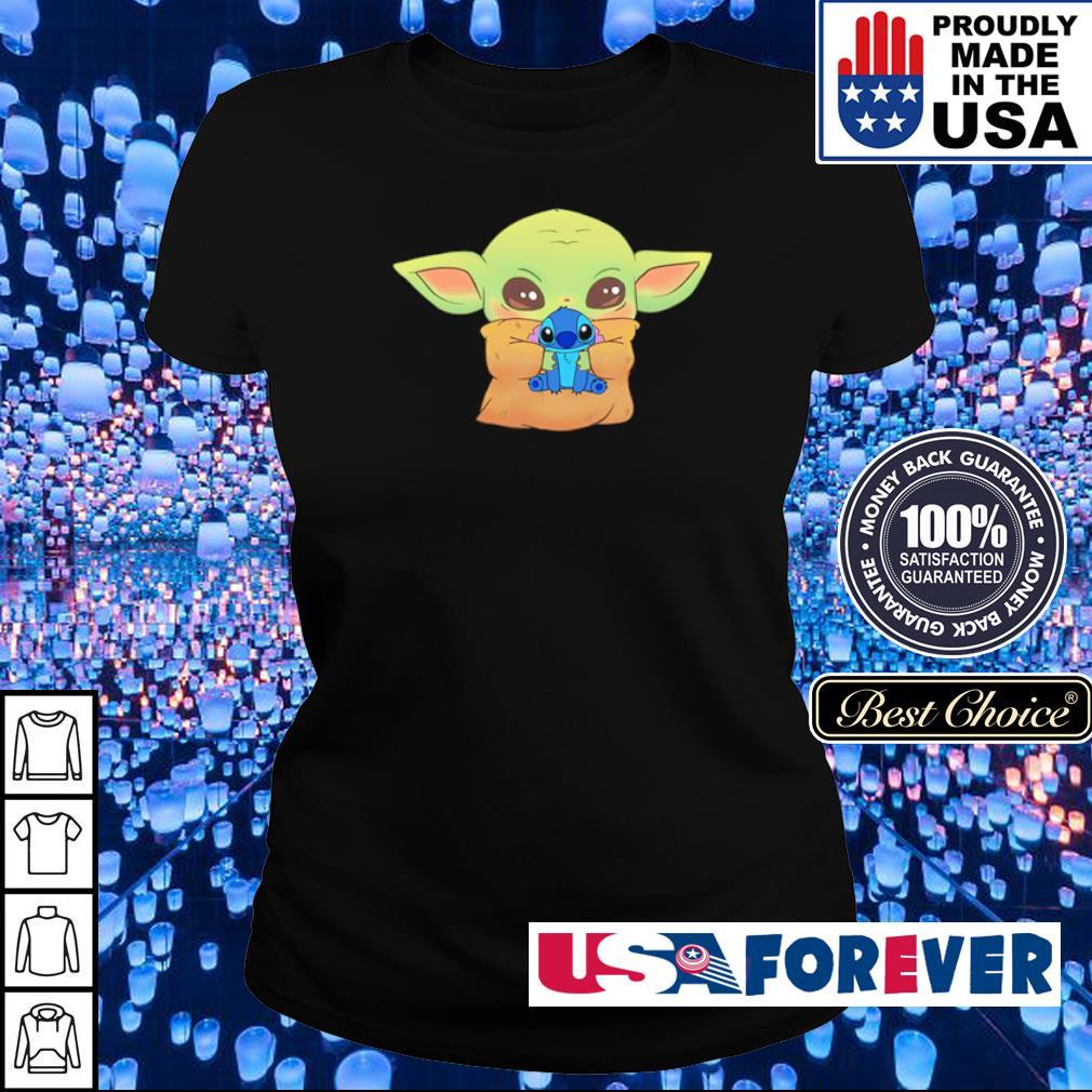 Baby Yoda hug Baby Stitch s ladies
