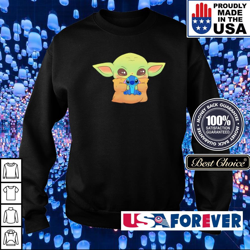 Baby Yoda hug Baby Stitch s sweater