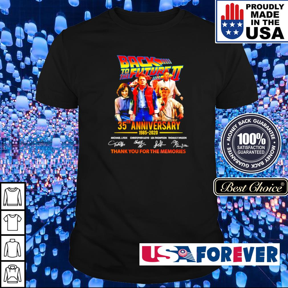 Back To The Future II 35th aniversary thank you for the memories signatures shirt
