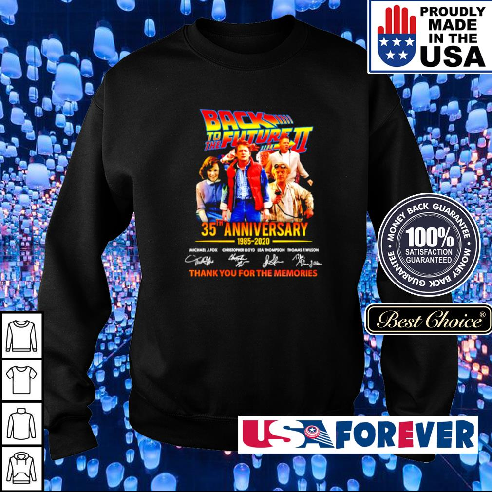 Back To The Future II 35th aniversary thank you for the memories signatures s sweater