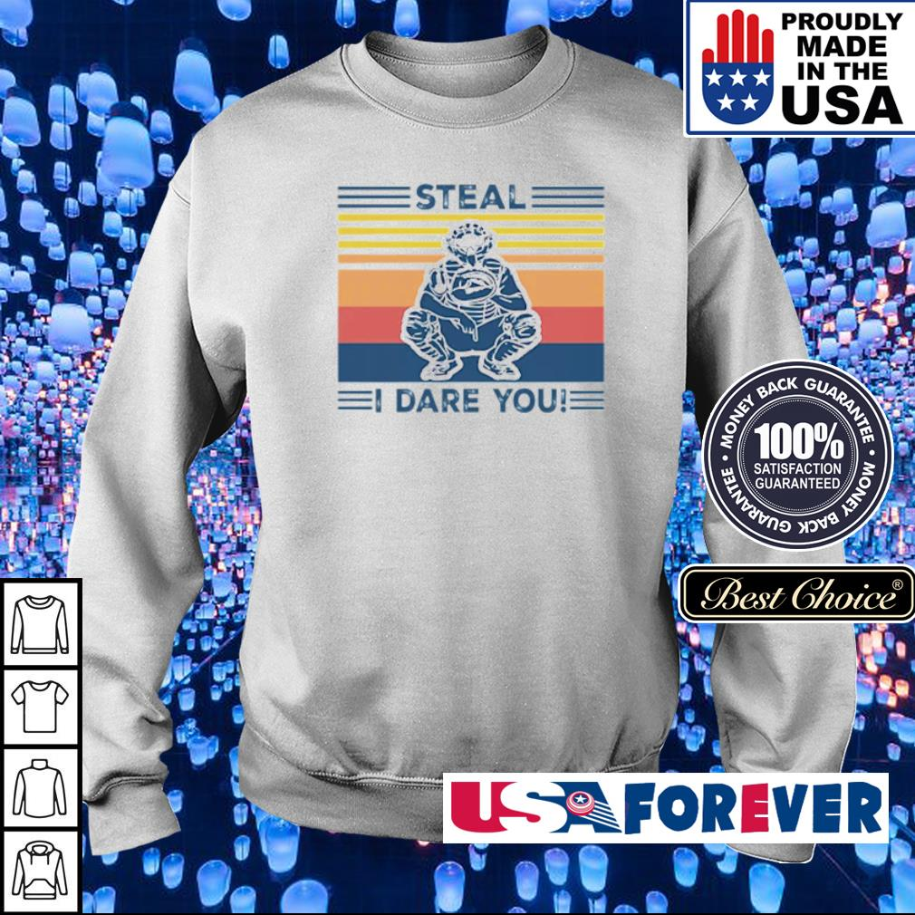 Baseball steal I dare you vintage s sweater