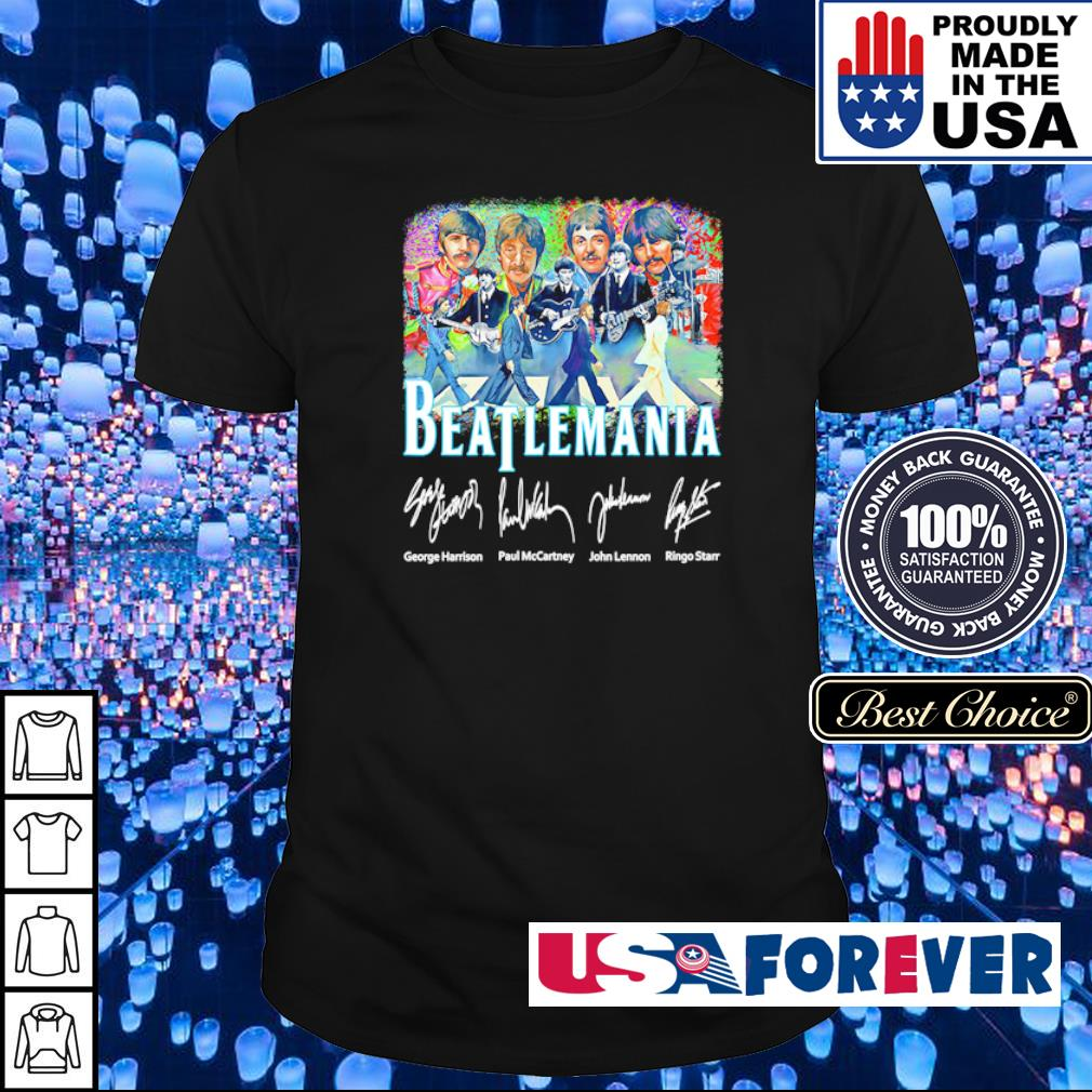 Beatlemania The Rolling Stones signatures shirt