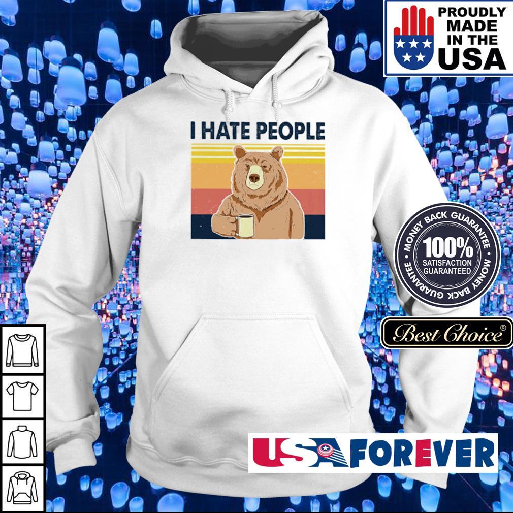 Beer I hate people vintage s hoodie